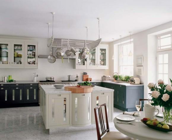 белый мрамор calacatta на кухне