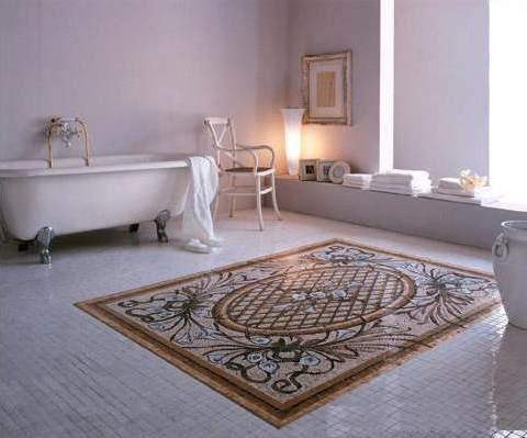 панно из каменной мозаики в ванную