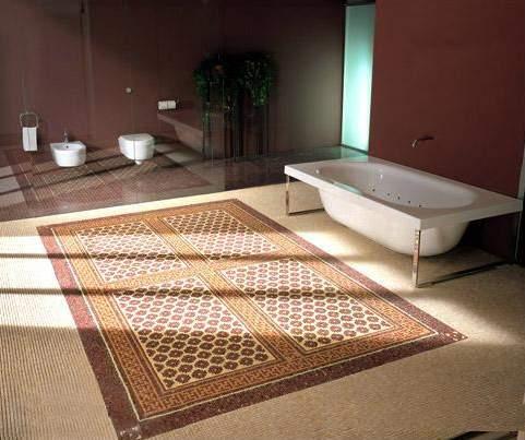 камнная мозаика для ванной комнаты