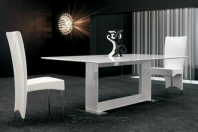 Итальянский Белый Обеденный стол из мрамора