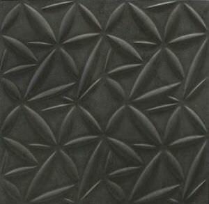 объемная черная мраморная плитка стиль petals
