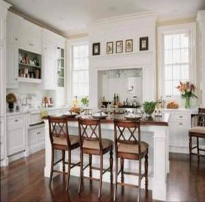 кухня из великолепного белого мрамора