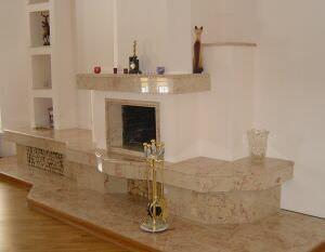 Камин в мрамор Розалия