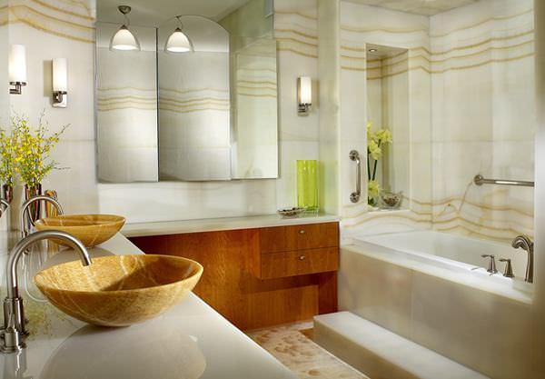 White Onix в ванной комнате