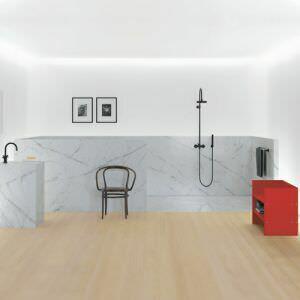 Минимализм мраморной ванны