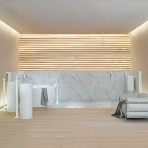 Дзен дизайн мраморной ванны