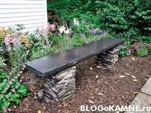 делаем каменную скамейку