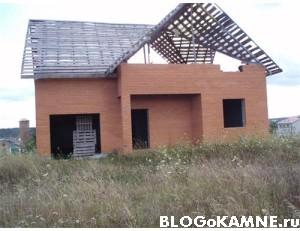 Проект недостроенного дома из камня