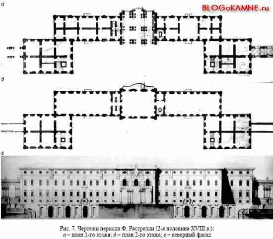 Чертежи Константиновского дворца периода Ф. Растрелли