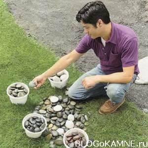 сортировка камней для мозаики