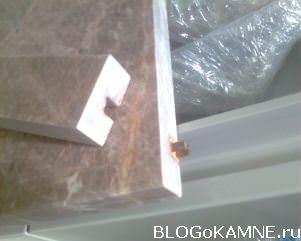 Армирование мраморной столешницы