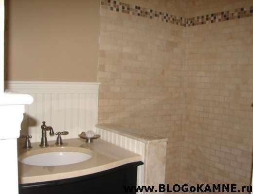 ванна облицована мрамором