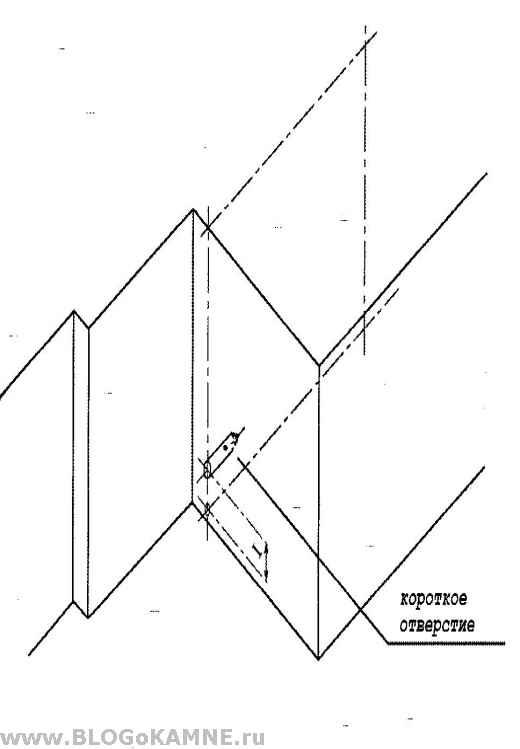 схема для сверления отверстий