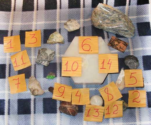 большая коллекция минералов
