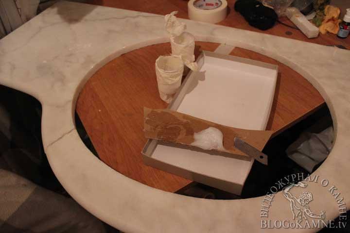 реставрация стола из камня