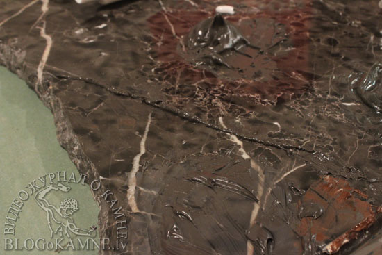 реставрация журнального столика из мрамора