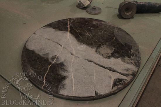 выравнивание мраморной поверхности