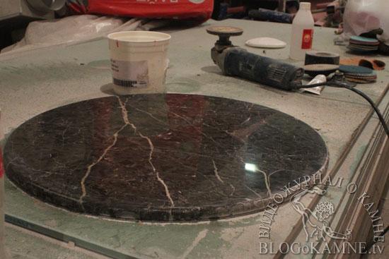 переполировка мраморного столика