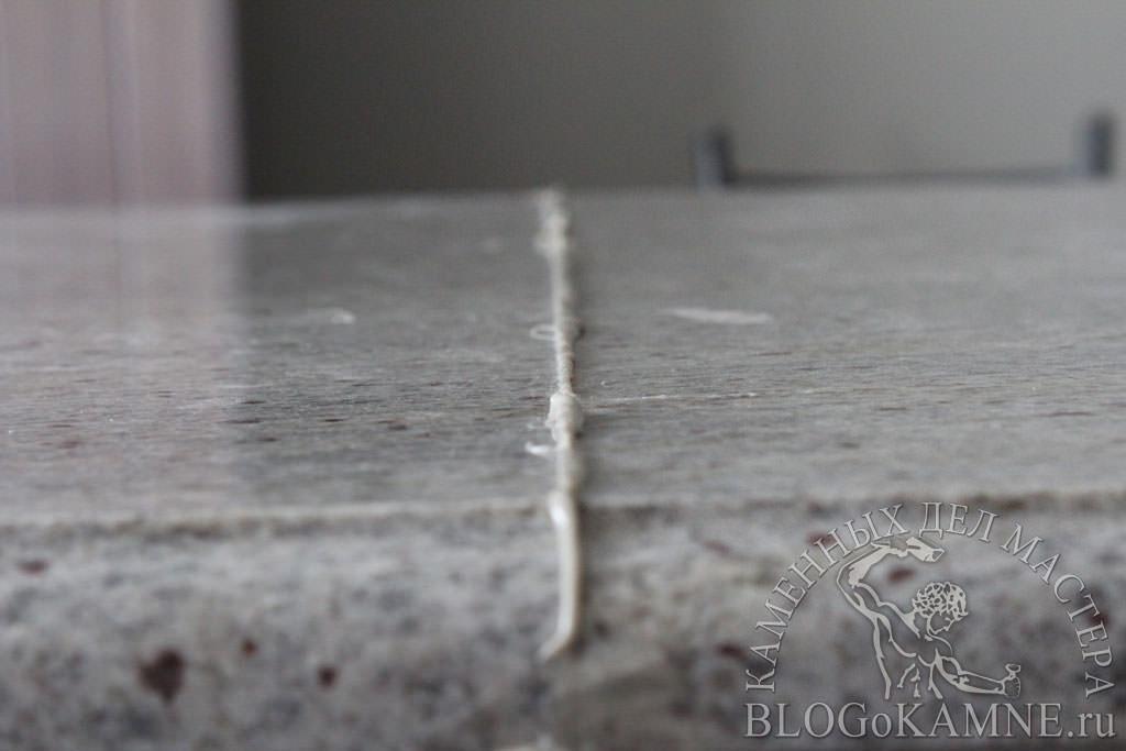 обработка швов на каменной столешнице