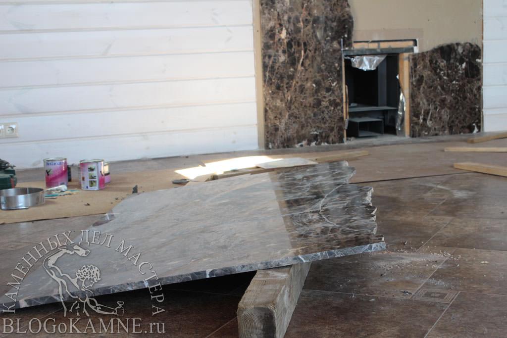 ремонт мраморного камина