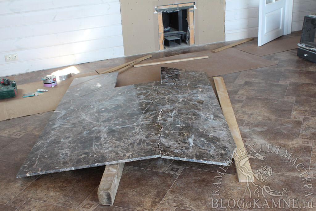реставрация мраморной облицовки