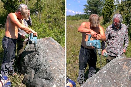 Как просверлить большой камень