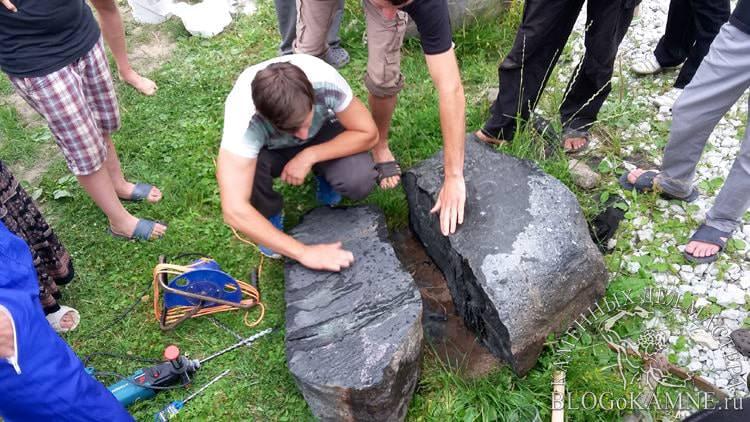 как разбить камень