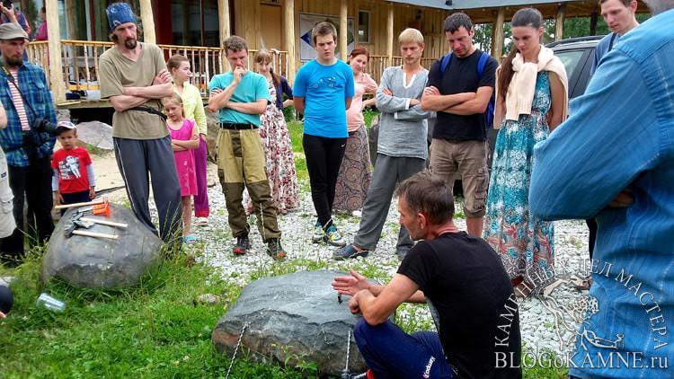 как расколоть камень вручную