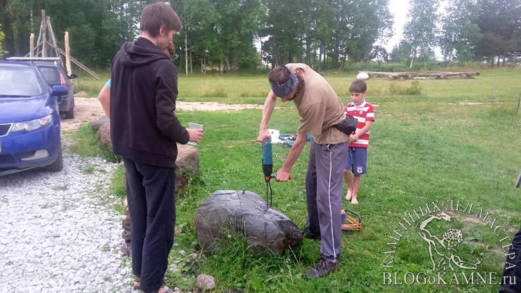 как расколоть природный камень
